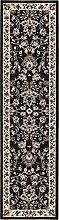 Kaschan Bereich Teppich, Polypropylen, schwarz, 2 x 8