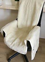 Kaschmir Sesselschoner mit Armlehnen Sesselauflage mit Kaschmir Anteil