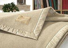 Kaschmirdecke, Wolldecke aus 100% Kaschmir Amalfi creme-beige 150x200cm Seide