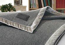 Kaschmirdecke, Wolldecke aus 100% Kaschmir Amalfi grau 150x200cm Seide