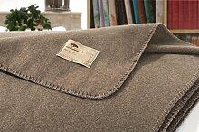 Kaschmirdecke, Wolldecke aus 100% Kaschmir Amalfi mongolgrau 150x200cm Kettstich