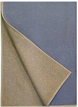 Kaschmirdecke / Wolldecke zweifarbig (200cm x 160cm) (Hellgrau/Hellblau)