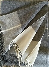 Kaschmirplaid, Wolldecke, Überwurfdecke 140x200 cm