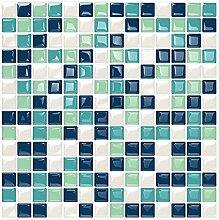 Kasliny 6 Stück 3D-Wandfliesen-Aufkleber,