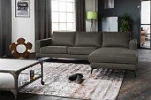Kasper-Wohndesign Sofa BLOOM, Leder Retro versch.
