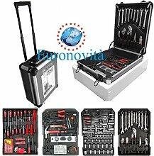 Kassette Werkzeug Schraubschlüssel Feste Werkbank komplett Koffer Trolley Set 186teilig
