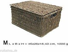 Kasten Aufbewahrung Korb mit Deckel Seegrass (M)