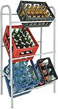 Kastenständer XXL für 6 Kisten - Farbe: weiß - Getränkekistenregal, Kistenständer2