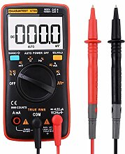 KASUNTEST 9999 Counts True RMS Digital Multimeter with AC/DC/ Square Wave Function Battery Included Red&Black