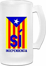 Katalonien Flagge DIY Druck Glas Bier Wasser Tasse