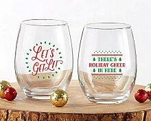 Kate Aspen 30023NA-2BRDGN Weinglas, ohne Stiel,
