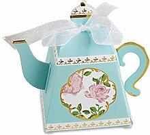 Kate Aspen Tea Time Whimsy Pappteller blaue