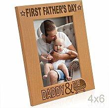 Kate Posh Erste Vater 's Day Gravur natur Holz