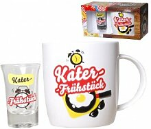 Kater-Frühstück-Set 2teilig mit Tasse und