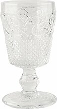 Katie Alice Vintage Indigo Kelchglas aus Glas, 8,5