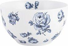 Katie Alice Vintage Indigo Schale, Blumenmuster,