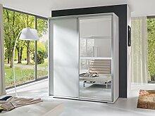 KATIE Exklusive Schwebetürenschrank, Kleiderschrank, Neue Garnitur, Moderne Design, Zwei Farben, Sonoma / Weiß (Sonoma)