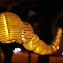 Katomi Solar-Lichterkette mit 20 LED Solarlichtern