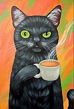 Katze Diamant Malerei 5D DIY Karikatur Katze Voll