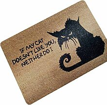 Katze Fußmatte mit Spruch Gummi Türmatte