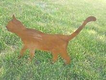 Katze, Garten Figuren, Natur Farben und Eisen Tier