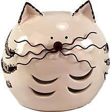Katze Gartenfigur Gartendekoration Keramik Metall