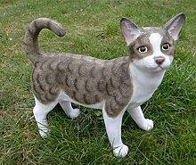 Katze Peterchen stehend Figur Garten TOP