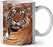 Katze Tier Tiger Foto Kätzchen Bremse WeißTee KaffeKeramik Becher 11 | Wellcoda