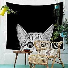 Katze Tiere Wandteppich Wandbehang Tapisserie