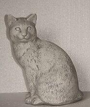 Katze, Tierfigur aus Steinguss