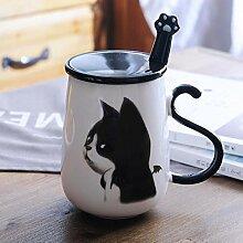 Katze Tiermuster Kaffeetasse Porzellan Tee Milch