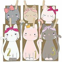 Katzen Adventskalender zum Befüllen - mit 24
