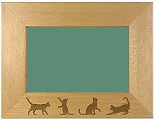 Katzen Design Gravur Bilderrahmen-Pets