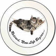 Katzen in Hängematte Ruhestand Geschenk Auto/Van Behindertenausweis Halterung/Tax Disc Geschenk