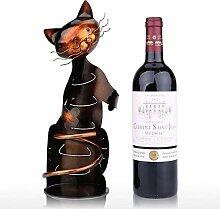 Katzenförmiger Weinhalter Weinregal Metallfigur