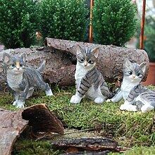 Katzenkinder 3er Set Katze gestreif
