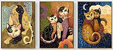 Katzenmalerei Gustav Klimt Bild Sezessionist Wand