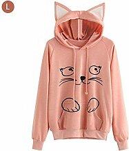 Katzenohr Sweatshirt, Weicher Pullover Gedruckter