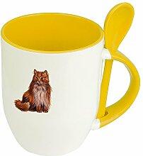 Katzentasse Norwegische Waldkatze - Löffel-Tasse
