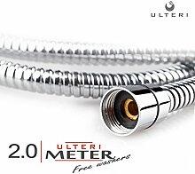 KAV Hel Duschschlauch 2,0 m für Handbrause silber