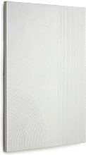 Kave Home - Adelta Bild mit weißen Linien 80 x