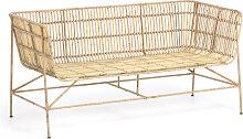 Kave Home - Aiala 2-Sitzer Sofa aus Rattan 140 cm