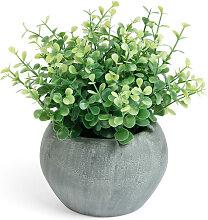 Kave Home - Eukalyptus kunstpflanze im grauen Topf