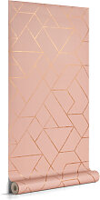 Kave Home - Gea 10 x 0,53 m Tapete, rosa und gold