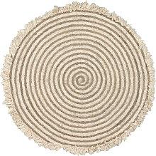 Kave Home - Gisel runder Teppich aus Jute und