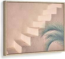 Kave Home - Lucie Bild mit brauner Zementtreppe 50