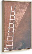 Kave Home - Lucie Bild mit Holzleiter 50 x 70 cm
