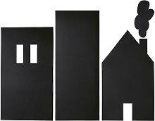 Kave Home - Nisi Wandsticker, Häusermuster, 115 x