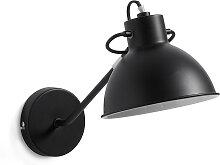 Kave Home - Offelis Wandleuchte, schwarz