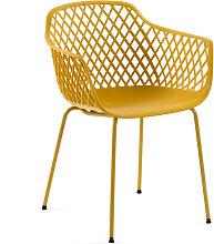 Kave Home - Quinn Outdoor-Stuhl gelb